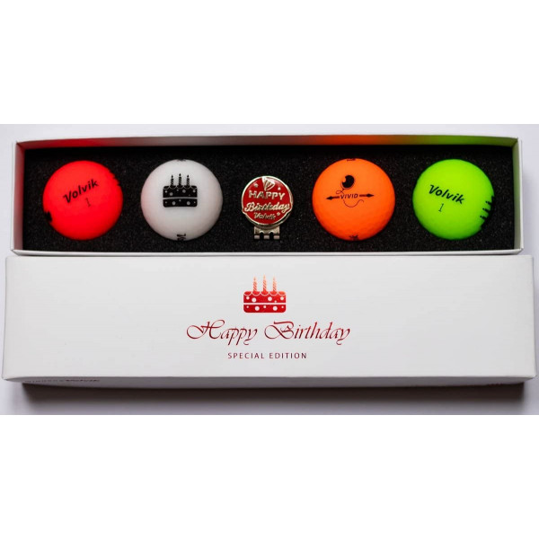 Мяч Volvik'20  Birthday (4шт/уп + маркер) VV0000710