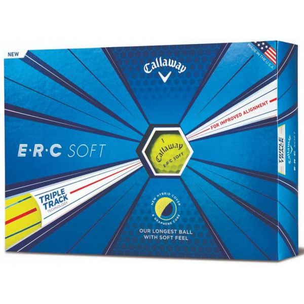 Мяч Callaway'20  ERC SOFT TRIPLE TRACK (3 шт/уп) желтый 3pc