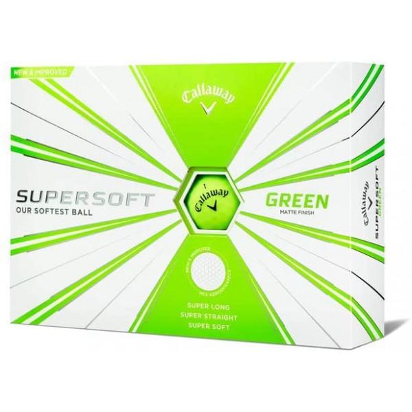 Мяч Callaway'20 SUPERSOFT MATTE (зелёный) 3 шт/уп