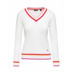 Пуловер (жен) Chervo'20  NISBA (А76) белый с красным, 64489