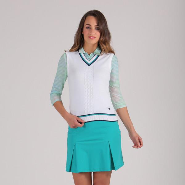 Жилет (жен) Chervo'20  NUVOLETTA (А93) белый с зелёным, 64490