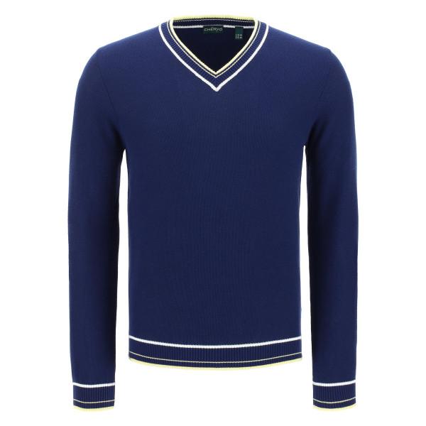 Пуловер (муж) Chervo'20  NUSCO (599) темно-синий, 64479