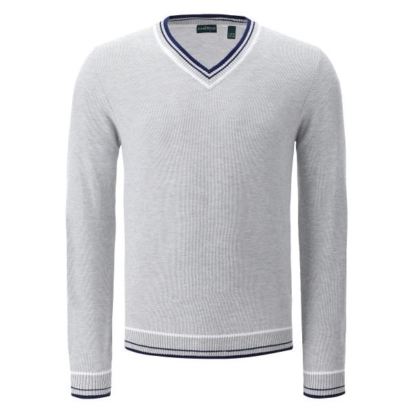 Пуловер (муж) Chervo'20  NUSCO (910) серый, 64479