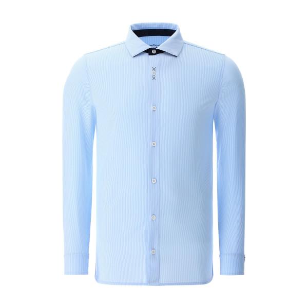 Рубашка (муж) Chervo'20 DAVIDE (34E) голубой (полоска) 64267