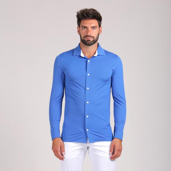 Рубашка (муж) Chervo'20 DAVIDE (43E) синий, 64267