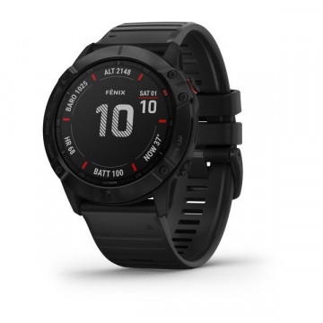 Часы fenix 6X,Pro,Black w/Black Band,GPS Watch,EMEA (010-02157-01)