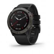 Часы fenix 6X,Sapphire,Carbon Gray DLC w/Black Bnd,GPS Watch,EMEA (010-02157-11)