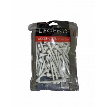 Ти Legend'21 2-3/4 (100шт) деревянные (70мм) белые LE6230050