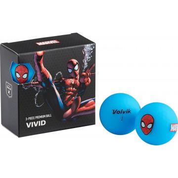 Подарочный набор мячей Volvik'21 SPIDER MAN BLUE (4 шт/уп) VV0001900