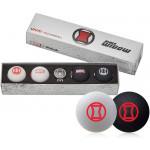 Подарочный набор мячей Volvik'21 BLACK WIDOW WHITE/ BLACK  (4шт/уп + маркер) VV0001860