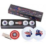 Подарочный набор мячей Volvik'21 CAPTAIN AMERICA WHITE (4 шт/уп) VV0001890
