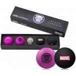 Подарочный набор мячей Volvik'21 BLACK PANTHER PURPLE/BLACK  (4шт/уп + маркер) VV0001850