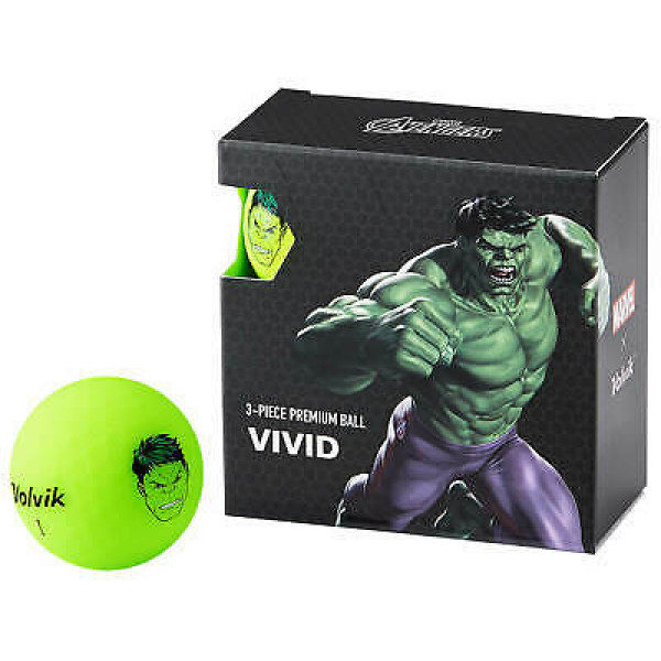 Подарочный набор мячей Volvik'21 HULK GREEN (4 шт/уп) VV0001910