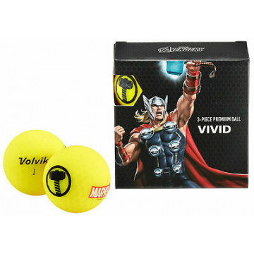 Подарочный набор мячей Volvik'21 THOR YELLOW (4 шт/уп) VV0001920