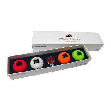 Подарочный набор мячей Volvik'21  Birthday (4шт/уп + маркер) VV0000710