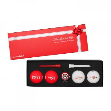 Подарочный набор мячей  Volvik'21 Love/Thanks (4шт/уп+маркер+ти) VV0000716
