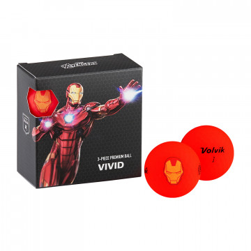 Подарочный набор мячей Volvik'21 IRON MAN RED (4 шт/уп) VV0001880