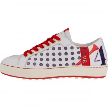 Ботинки (жен) DDC'21 Esti (белый/красный) 110701-0039