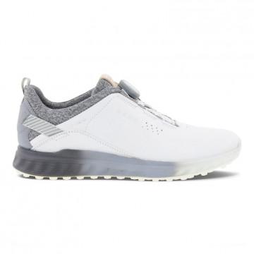 Ботинки (жен) ECCO'21 GOLF S-THREE Gore-Tex (белый/серый) 102913