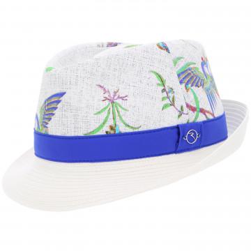 Шляпа (жен) Chervo'9  WARTINA (62F) белый с зеленым рис., 63715