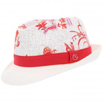 Шляпа (жен) Chervo'9  WARTINA (97G) белый с красным рис., 63715