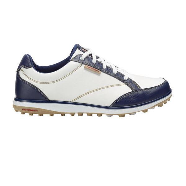 Ботинки (жен) Ashworth'4 (белый-синий) 54302