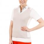 Джемпер (жен) Golfino V-Neck  Cotton Slipover (149) с лого