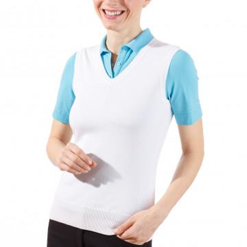 Жилет (жен) Golfino Classic Pima Cotton (100) белый, 2219122