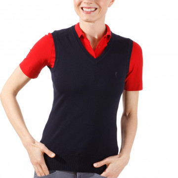 Жилет (жен) Golfino Classic Pima Cotton (580) темно-синий, 2219122