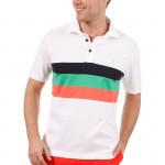 Поло (муж) Golfino Cotton 2231911 (100) белый/триколор