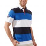 Поло (муж) Golfino Cotton 2231112 (549) синий-голубой-белый