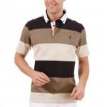 Поло (муж) Golfino Cotton 2231112 (765) черный-коричневый-серый