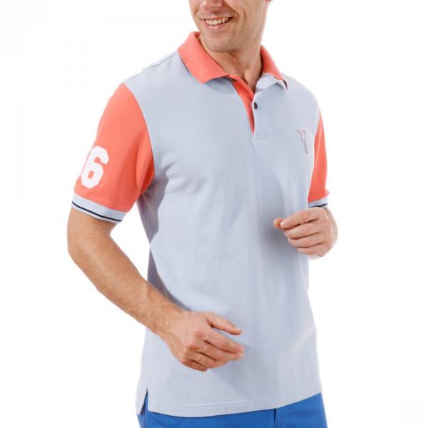 Поло (муж) Golfino Cotton 2231413 (543) голубой