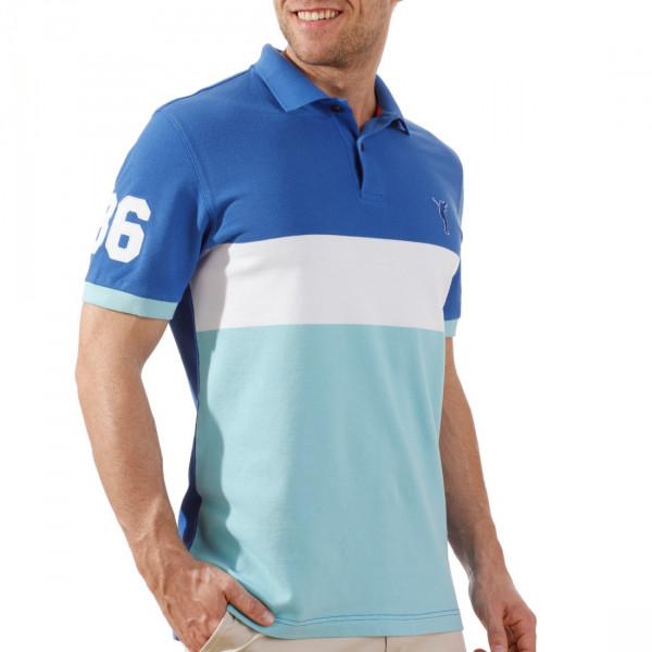 Поло (муж) Golfino Cotton 2231212 (549) синий-белый-голубой