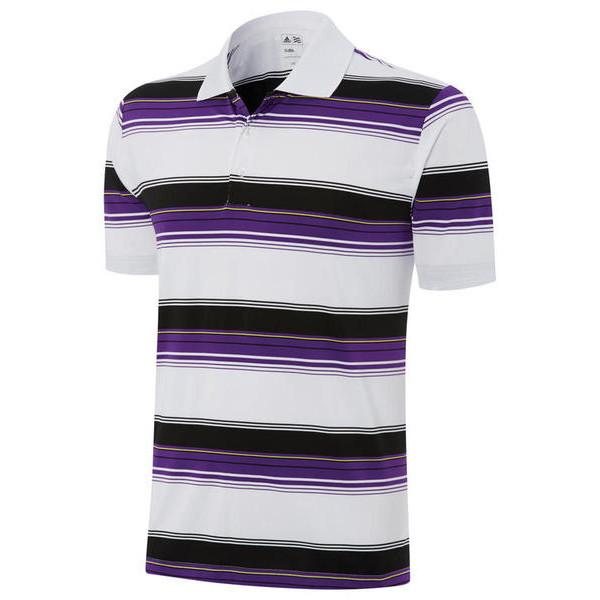 Поло (муж) Adidas'4  83418 (белый-фиолетовый)