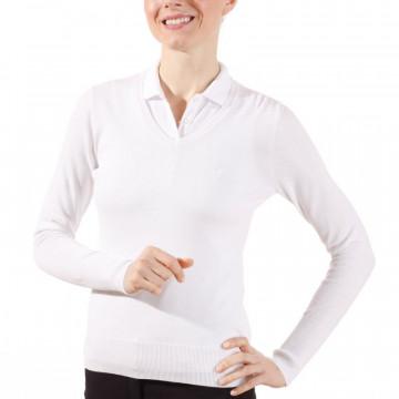 Пуловер (жен) Golfino Classic Pima Cotton (100) белый, 2219022