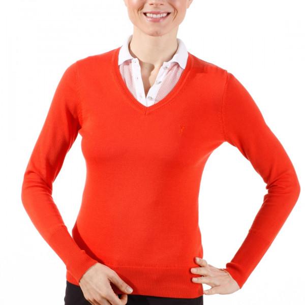 Пуловер (жен) Golfino Classic 2219022 (356) красный с лого