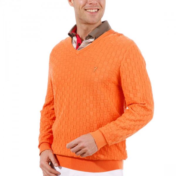Пуловер (муж) Golfino 2210512 (349) оранжевый