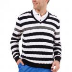 Пуловер (муж) Golfino 2210712 (580) черно-белый