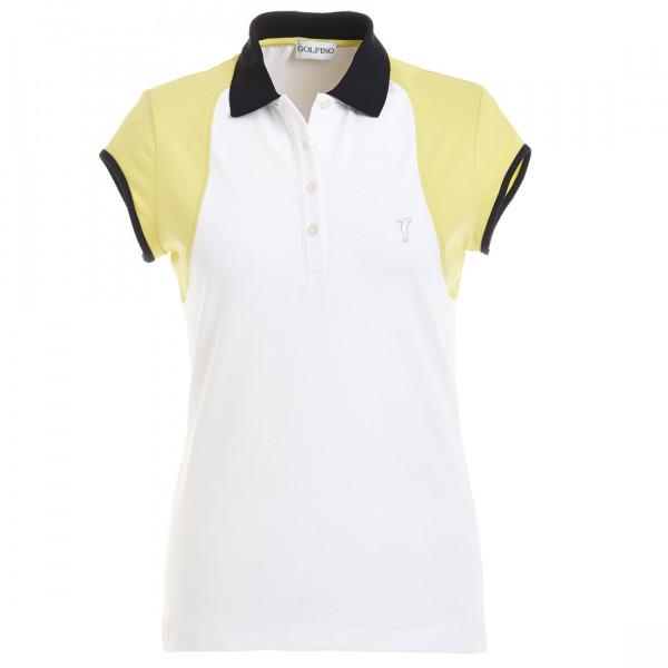 Поло (жен) Golfino 4238422 (100) белый-желтый