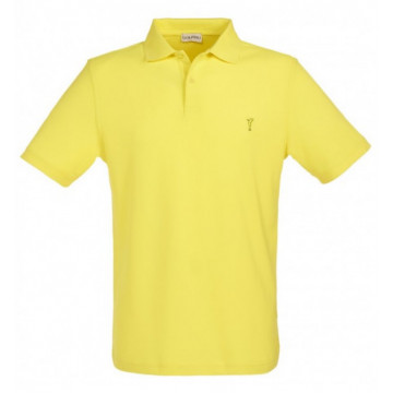 Поло (муж) Golfino'9  желтый (204) лого MCC