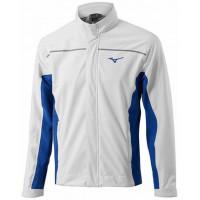 Дождевая куртка (муж) Mizuno'17 Rain Jkt (White/Blue)