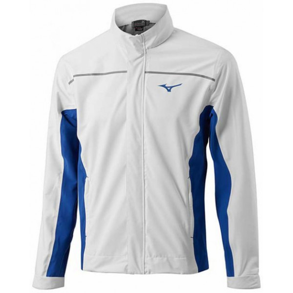Дожд. куртка (муж) Mizuno'17  52GE6505 (белый/синий)