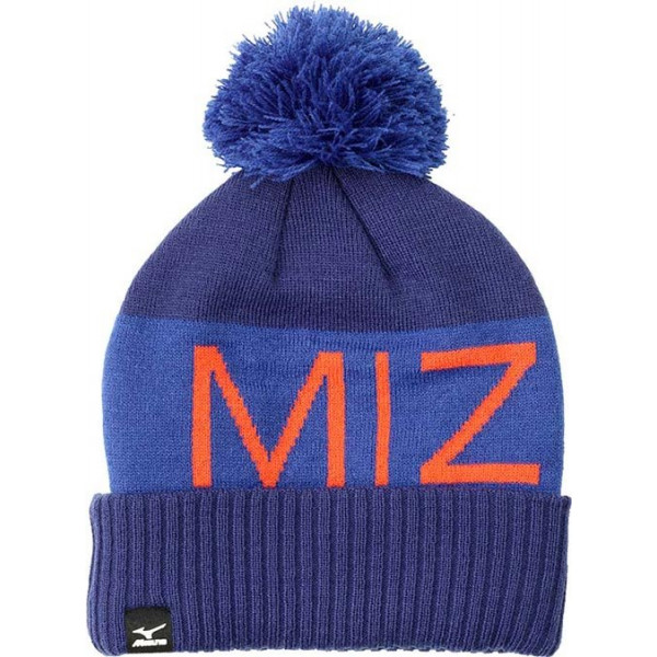 Шапка Mizuno'17  Bobble Hat (PatriotBlue/SurftheWeb/GrenadineRed)