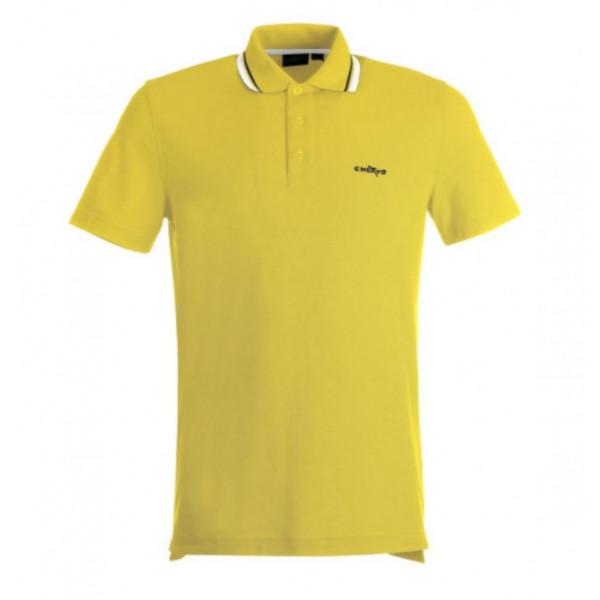 Поло (муж) Chervo'17  AFFETTO SlimFit (222) желтый/59315